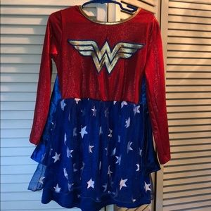 Wonder Woman small girls costume dress stretchy